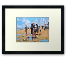 Oyster Gatherers of Cancale after Sargent  Framed Print