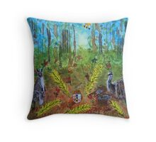 The Australian Coat of Arms Deconstructed Throw Pillow