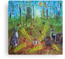 The Australian Coat of Arms Deconstructed Canvas Print