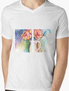 ROSES IN VASE IN 2 PARTS(C2006) Mens V-Neck T-Shirt