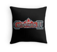 Castlevania 4 (SNES) Title Screen Throw Pillow
