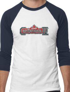 Castlevania 4 (SNES) Title Screen Men's Baseball ¾ T-Shirt