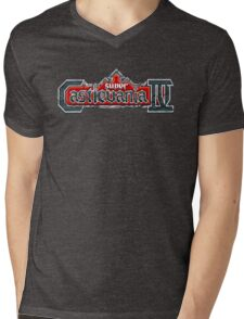 Castlevania 4 (SNES) Title Screen Mens V-Neck T-Shirt