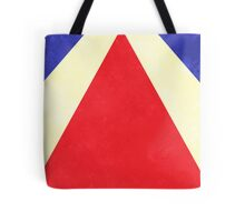 Red, Blue and Cream Rays Tote Bag