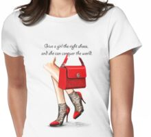 In my shoes  Womens Fitted T-Shirt