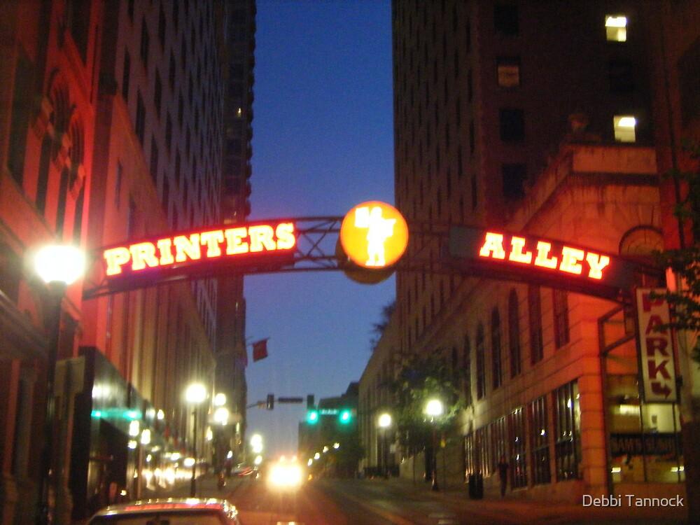 Printers Alley at Night by Debbi Tannock
