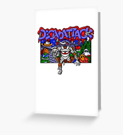 Decapattack (Genesis) Title Screen Greeting Card