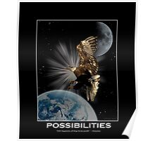 Bald Eagle POSSIBILITIES Motivational Wildlife Poster