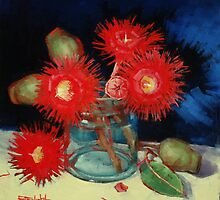 Flowering Gum Blossoms Still Life by Margaret Stockdale