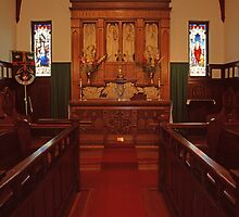 Chancel, Holy Trinity Vancouver, the Old Church by Priscilla Turner