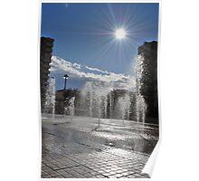 Sun & Fountain Poster