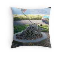 Iwo Jima: The Lego Brick Throw Pillow