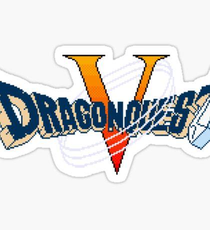 Dragon Quest V (Snes) Title Screen Sticker
