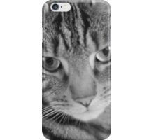 Tabby Cat in Black and White iPhone Case/Skin