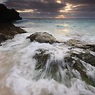 Swash over Rock, South Shore by Lucy Hollis