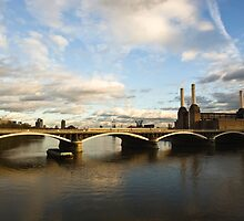 Battersea Power Station, London, England. by Teddy  Sugrue