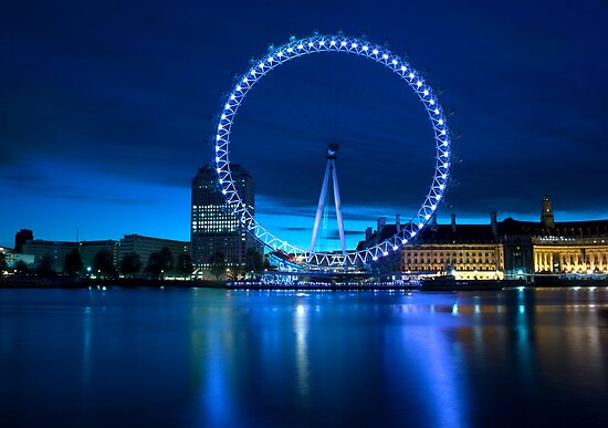 London Eye, London, England. by Teddy  Sugrue