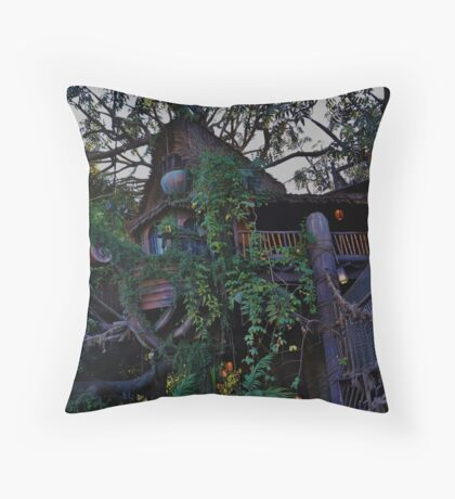 Tarzan's Tree House Throw Pillow