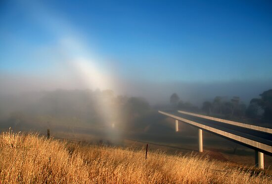 Fog Bow by LeeoPhotography
