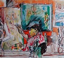 BUSY STUDIO(C2004) by Paul Romanowski