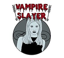 Buffy The Vampire Slayer B&W Photographic Print