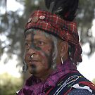 Seminole Indian in Battle Dress by David Lee Thompson