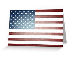 Grunge American Flag Greeting Card