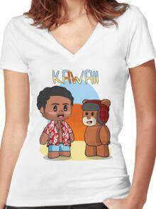 KAWAII Women's Fitted V-Neck T-Shirt