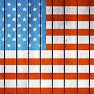 American Wooden Flag by Olga Altunina