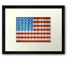 American Wooden Flag Framed Print