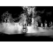 Ghost of a sailor playing chess - Actual shot unedited Photographic Print