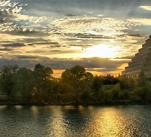 Sacramento Sunset by Barbara  Brown