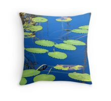 Lily Pads on Secluded Pond Throw Pillow