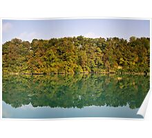 Autumn along the Rhone river Poster
