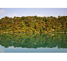 Autumn along the Rhone river Photographic Print