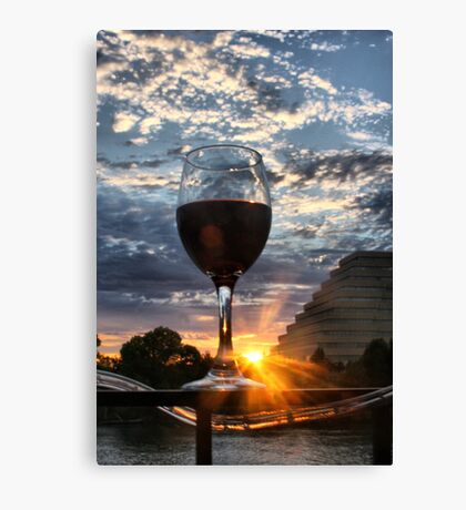 Red Wine in the Sunset Canvas Print