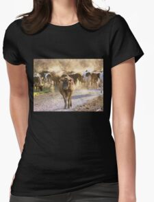 A Steamy Morning - Dairy NZ Womens Fitted T-Shirt