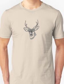 Deer Head Illustration Unisex T-Shirt