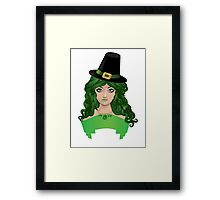 Leprechaun girl 4 Framed Print