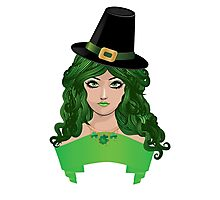 Leprechaun girl 4 Photographic Print