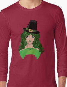 Leprechaun girl 4 Long Sleeve T-Shirt