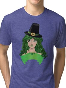 Leprechaun girl 4 Tri-blend T-Shirt