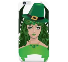 Leprechaun girl 5 iPhone Case/Skin