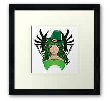 Leprechaun girl 5 Framed Print