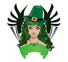 Leprechaun girl 5 Photographic Print