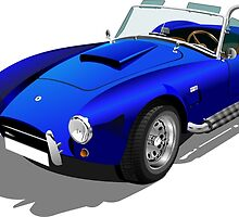 Blue Shelby Cobra by tshirtdesign