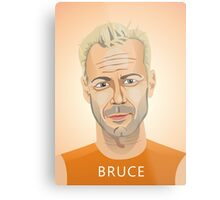 Bruce Willis, Hollywood star in The Fifth Element  Metal Print