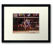 First Lance Framed Print