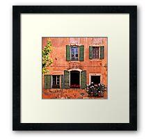 Facade Provencale Framed Print