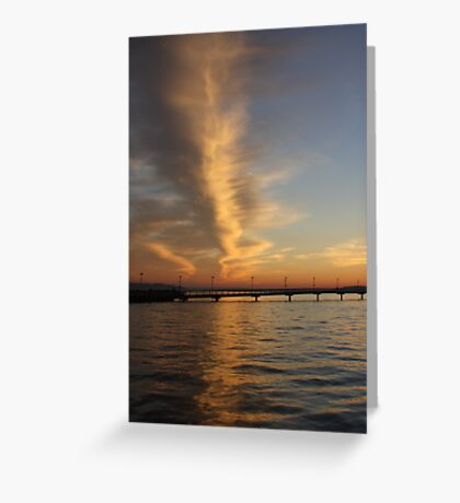 Evening Puget Sound Greeting Card
